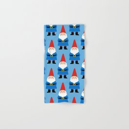 Gnome Repeat in Blue Hand & Bath Towel