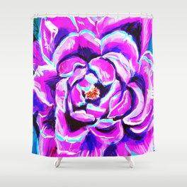 Purple peony flower Shower Curtain