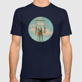 Window cleaner in the sky 02 T-shirt