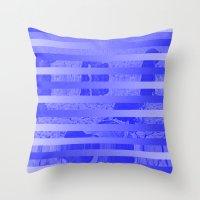 glitch Throw Pillows featuring Glitch by Claire Balderston