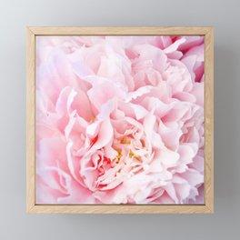 Peony Flower Photography, Pink Peony Floral Art Print Nursery Decor A happy life - Peonies 3 Framed Mini Art Print