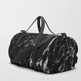 Black magic marble Duffle Bag