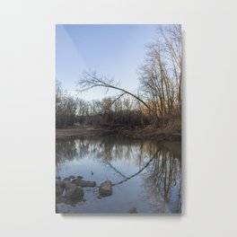 A Mirrored Landscape at Sunrise Metal Print
