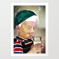 milk Art Prints featuring Milk by Alvaro Tapia Hidalgo