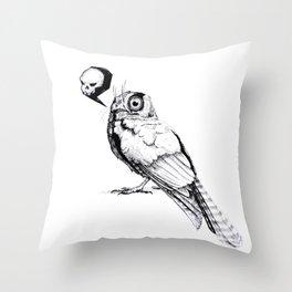 Owlet Nightjar Throw Pillow
