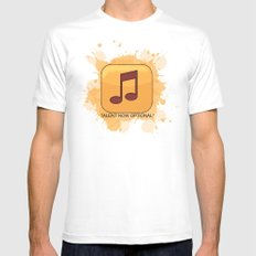 Pop Music Mens Fitted Tee White MEDIUM