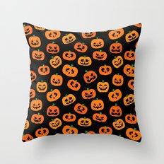 Jack-o'-Lanterns Throw Pillow