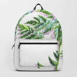 Fern leaf (watercolor on textured background) Backpack