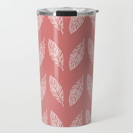 Tropical foliage Flamingo Pink #tropical #leaves #homedecor Travel Mug