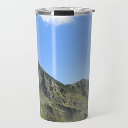 Mountain summit in the clear sky. Travel Mug