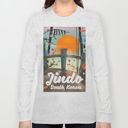 Jindo South korea travel poster. Long Sleeve T-shirt