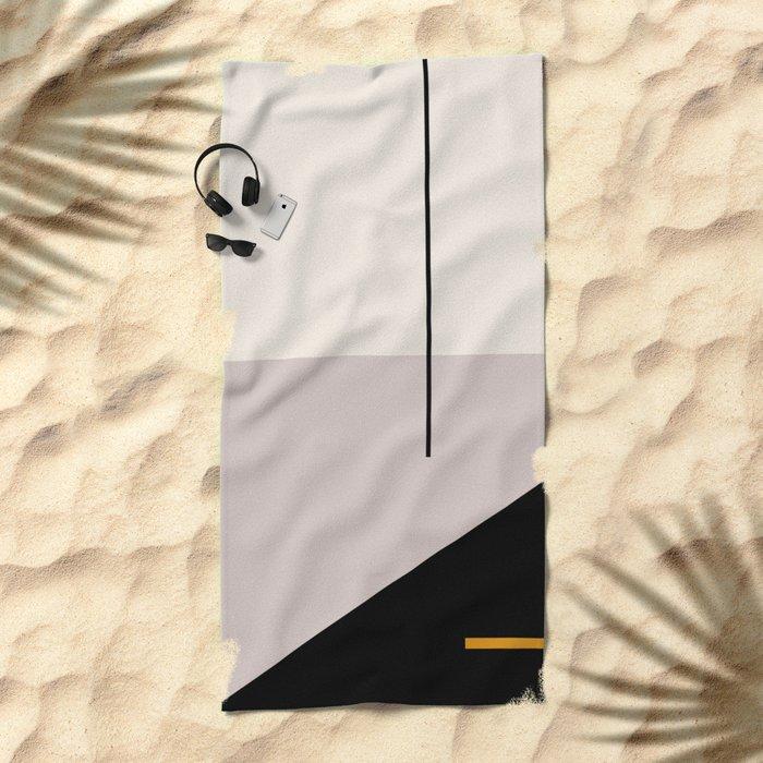 abstract minimal 28 Beach Towel