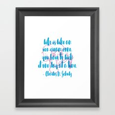 Ice-Cream Cone Framed Art Print