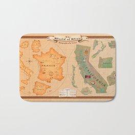 World of Wine Map Bath Mat