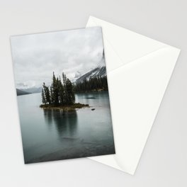 Landscape Maligne Lake Vertical View Stationery Cards