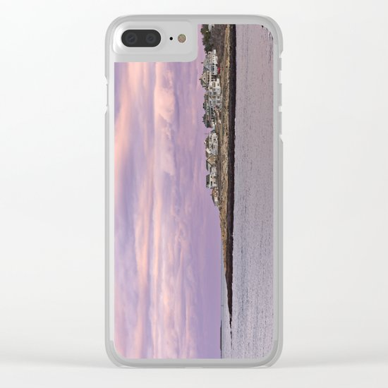 pigeon cove sunset Clear iPhone Case