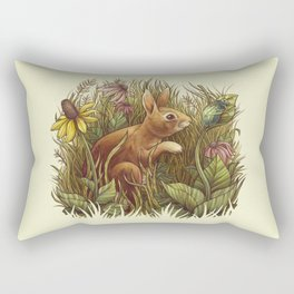 The Cottontail and the Katydid Rectangular Pillow