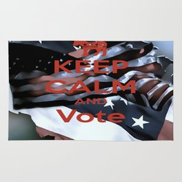 Keep Calm Vote - Democrat Rug