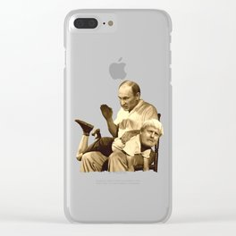 Putin spanking Johnson Clear iPhone Case