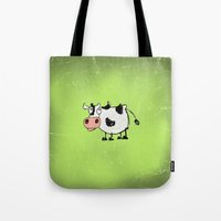 cow Tote Bags featuring Cow by Mr and Mrs Quirynen