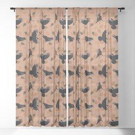 Autumn Raven Sheer Curtain