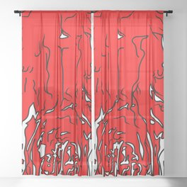 Fox Skull Sheer Curtain