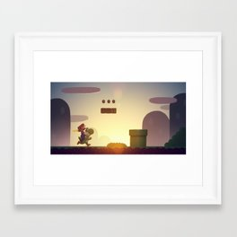 Super Mario World Framed Art Print
