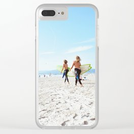 Surfin' USA Clear iPhone Case