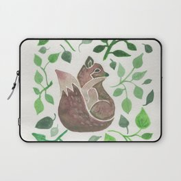 There is a fox in the forest painting Laptop Sleeve