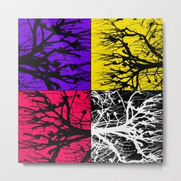 TREE QUAD Metal Print