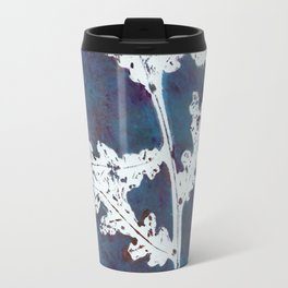 floral pattern with gelli printing technique Travel Mug