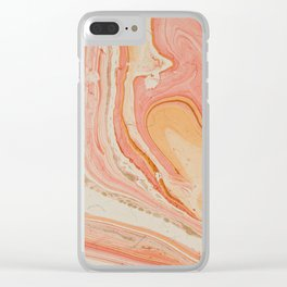 Marbled paper Clear iPhone Case