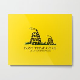 Dont tread on me or my son ever again Gadsden flag yellow Metal Print
