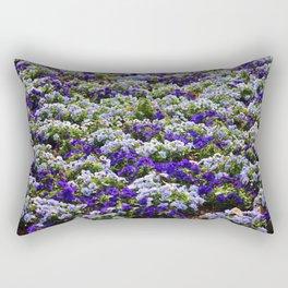 Pansies Bring Color To The Garden Rectangular Pillow