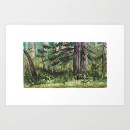 Small Forest - Watercolor Landscape Art Print