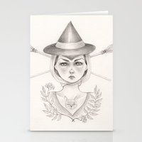 witch Stationery Cards featuring Witch by Devon Smith