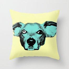 THE BUDDIE, BLUE Throw Pillow
