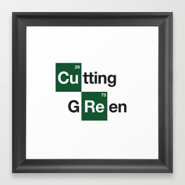 cutting green Framed Art Print