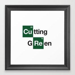 cutting green Framed Art Print