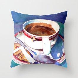Cafe con Leche Throw Pillow