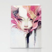 decorative Stationery Cards featuring Bauhinia by Anna Dittmann
