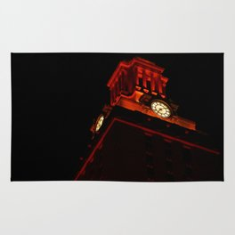 UT Tower At Night Rug