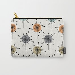 Midcentury Sputnik Starburst Flowers Colorful Carry-All Pouch