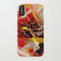 cage iPhone & iPod Cases featuring fire cage by Matthias Hennig