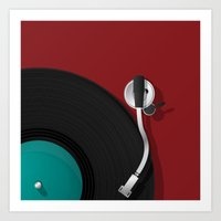 dj Art Prints featuring DJ by Rceeh