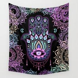 Pastel Hamsa amulet Wall Tapestry