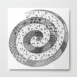 Zentangle®-Inspired Art - ZIA 47 Metal Print