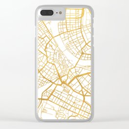 BASEL SWITZERLAND CITY STREET MAP ART Clear iPhone Case