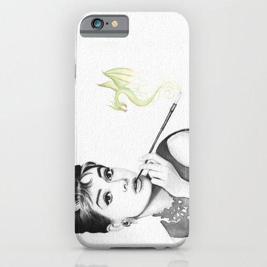 Audrey Hepburn and Her Dragon iPhone & iPod Case