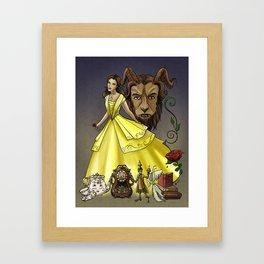Belle and the Beast Framed Art Print